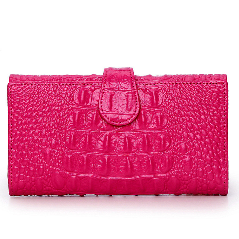 2017 Brand Solid Fashion Women Leather Alligator Hasp Long Wallet Coin Pocket Card Money Holder Clutch Purse Wallets Evening Bag стоимость