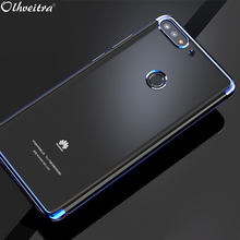 Clear TPU Cover For Huawei Enjoy 8 / Huawei Honor 7C Case TPU Protective Soft Silicon Ultra Thin Case For Huawei Y7 Prime 2018(China)