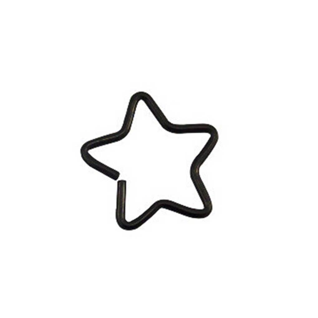 Пирсинг для тела серьги кольцо звезда форма ушной хрящ орбитальные Спиральные серьги ювелирные изделия серьги шпильки для носа и губ кольца ювелирные изделия для вечерние