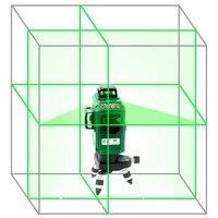 Kaitian 3D 12 линий зеленый Лазерные уровни наливные 360 по горизонтали вертикальные поворотные крест зеленый Nivel лазерный луч линии уровень инстр