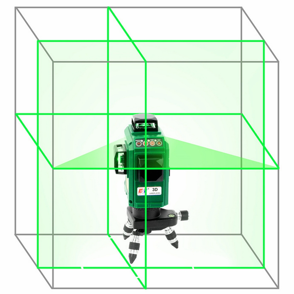 laser level 3d 12 lines vertical and horizontal high precision automatic self leveling 360 degree rotary cross green beam nivel Kaitian 3D 12Lines Green Laser Levels Self-Leveling 360 Horizontal Rotary Vertical Cross Green Nivel Laser Beam Line Level Tool
