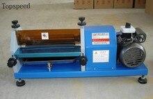 Máquina de pegamento automática 27 cm recubrimiento para papel, cuero, madera,
