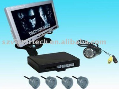 7-inch Desktop TFT Monitor video Parking Sensor system+Camera+4 Sensors