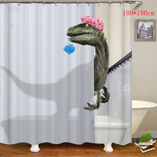 Shower Curtain Bathroom Waterproof Shower Curtain 3D Dinosaur Printing Bathroom Curtain Polyester Bath Curtain Home Decor novelty 3d end of the world digital printing shower curtain for bathroom