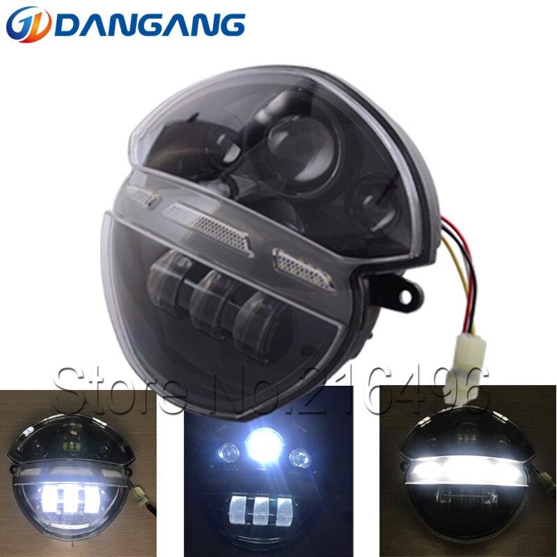 Black LED Headlight Set For Ducati Monster 696 695 795 796 Front Head Light