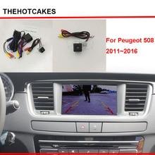 Thehotcakes Автомобильная камера заднего вида для peugeot 508 2011~ экран совместимый/Резервное копирование камера заднего вида наборы