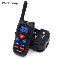 Dog Electric Shock Collar Training Collar Anti Barking Behavioral Train Device IP67 Waterproof Remote Control For 1 or 2 Dogs