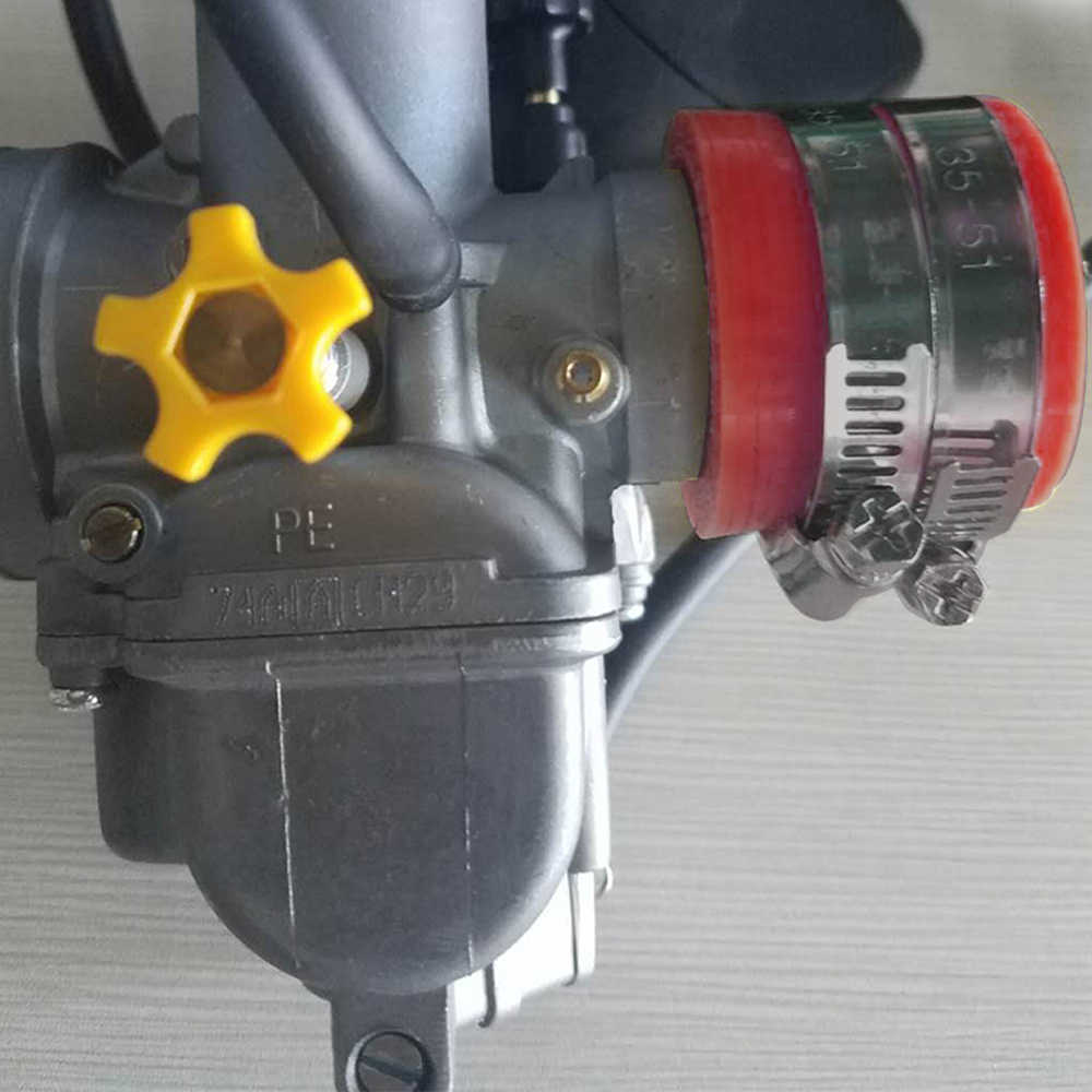 ZSDTRP 40mm אופנוע קרבורטור גומי מתאם צריכת כניסת צינור לכלוך אופני עבור MIKUNI OKO KOSO KEIHIN OKO 32 MM 34 MM
