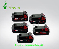 5 X New 18V 2000mAh Rechargeable Power Tool Lithium Ion Battery Replacement For Milwaukee M18 XC