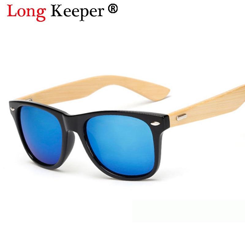 Long keeper 2017 nieuwe merk designer bamboe zonnebril hout voor vrouwen mannen bril gaf oculos oculos de sol madeira 1501