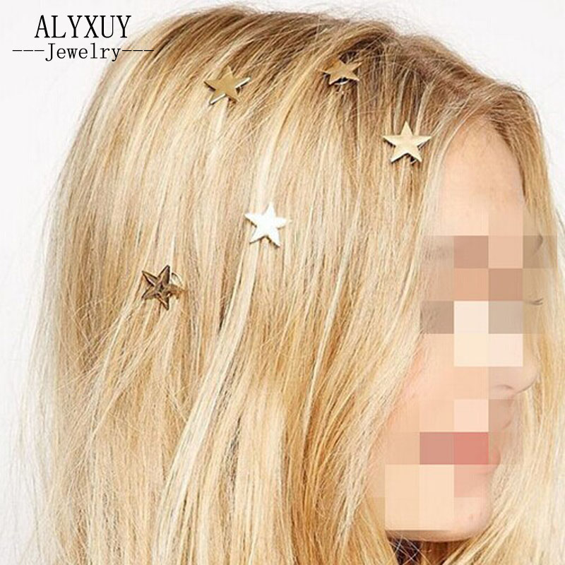 just do my best New fashion hairwear gold color star design hairpin gift for women girl H345