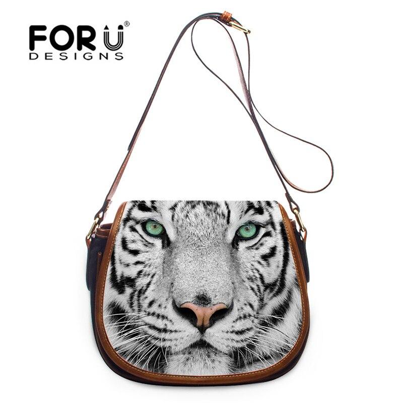 FORUDESIGNS tigre hibou Mini femme Messenger sac, 3D petites femmes sac à bandoulière, panda dames filles croix corps épaule sacs à main