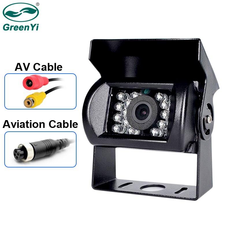 Câmera de visão traseira do veículo impermeável resistente da visão noturna do ir do diodo emissor de luz da câmera de backup do caminhão de greenyi 18 para o caminhão/reboque/pickups/rv