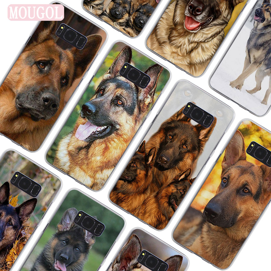 Buy now MOUGOL Hot Sale sable german shepherd puppy Clear hard Phone Case Cover
