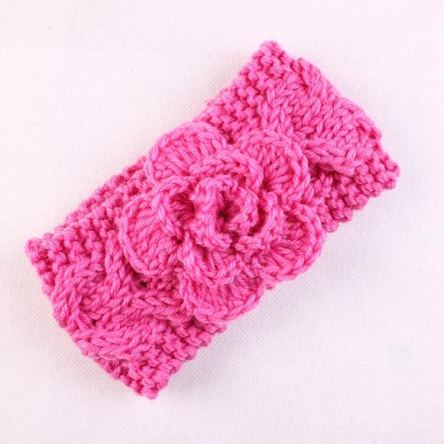 Knit Headband Girls Crochet Headband With Flower For Girls Winter