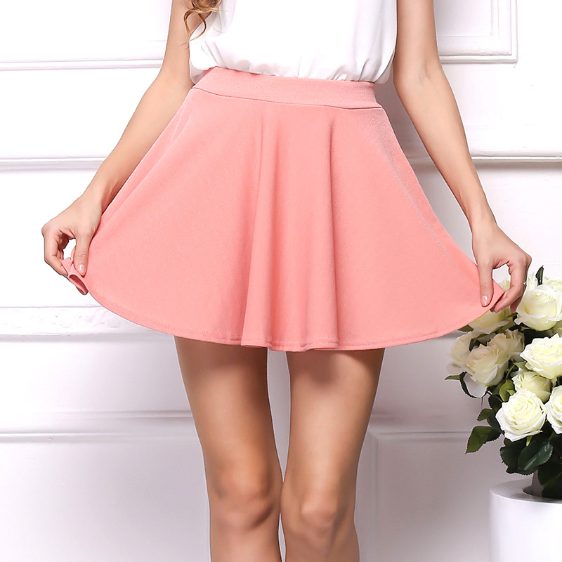 2019 Women's Summer Short Skirt Sexy High Waist Loose Solid Color Mini Skirt Beach Skirt Women's Mini Skirt Loose Casual 0927 Price $25.14