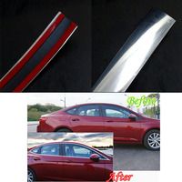 High Quality Plastic 15mm 15m Car Chrome Moulding Trim Strip Tape Door Edge Guard Protector Interior