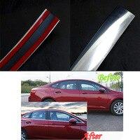 High Quality Plastic 15mm 15m Car Chrome Moulding Trim Strip Tape Door Edge Guard Protector Interior