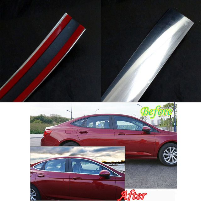 Unique High Quality Plastic 15mm 15m Car Chrome Moulding Trim Strip Tape Door Edge Guard Protector Simple Elegant - Minimalist door edge Awesome