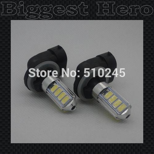 100X 2014 NEW Arrival 881 LED bulb 12 SMD Auto Vehicle 3W 5630/5730 12 SMD LED Heading Car Fog Light Source free shipping
