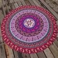 Brand Scarf Women Fashion Scarfs 2016 Polyester Print Toalha Mandala Oversize Round Beach Towel Circle Beach Serviette De Plage