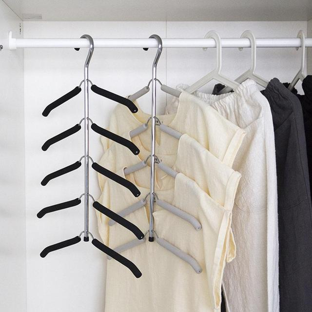 Hanger Rack Shawl Cloth Closet Multifunctional Seamless Slip Resistant Clothes Hanging Household Multi Layer