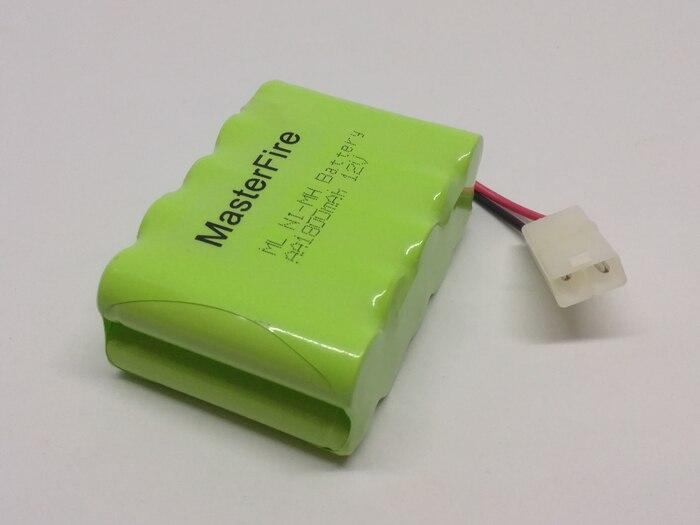 MasterFire 10 pacote/lote Brand New 12V pacote de Baterias Nimh AA 1800mAh Ni-MH Bateria Recarregável com plug