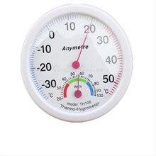 In-out цельсию гигрометр парниковых термометр двери круглый цифровой белый