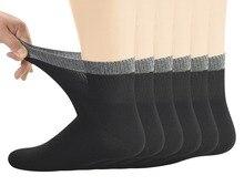 Chaussettes diabétiques en bambou pour hommes avec bout sans couture et haut Non contraignant, 6 paires taille L (10 13)