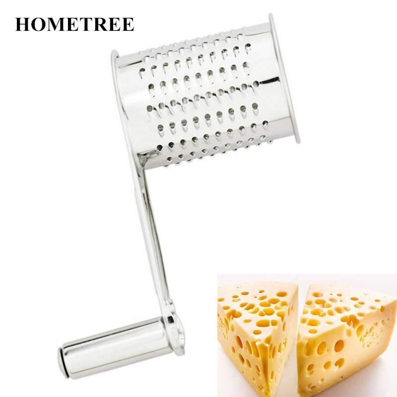 HOMETREE Manual Creative Control Stainless Steel Cheese Graters Butter Cutting Cheese Planer Slicer Grater Kitchen Accessor H543