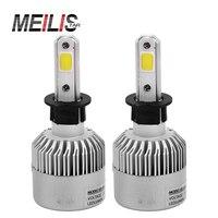 Meilistar S2 H3 Headlamps LED Headlamps 72W 8000LM COB LED Car Headlight Conversion Kits Single Girders