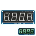 """0.56"""" Emerald-green LED 4-digit display tube Module 7 segment with Decimal Point for Arduino / RPi / AVR / ARM"""
