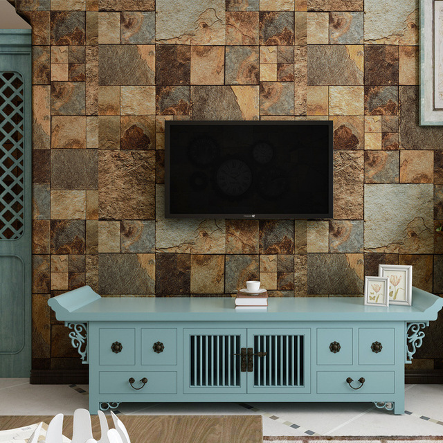 Fantastisch Beibehang Eigenschaften Retro Chinesischen Marmor Tapete Hintergrund Zähler  Shop Simulation Stein Gestreifte Tapete Restaurant