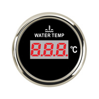 52 mm 40 120 Celsius Digital Water Temp Gauges Indicator water temperature Alarm Clock fit for Red Backlight 9 32V