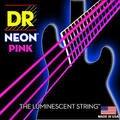 Dr k3 hi-def neon rosa luminescente baixo cordas de guitarra, luz 40-100 ou médio 45-105 ou 5 cordas 45-125