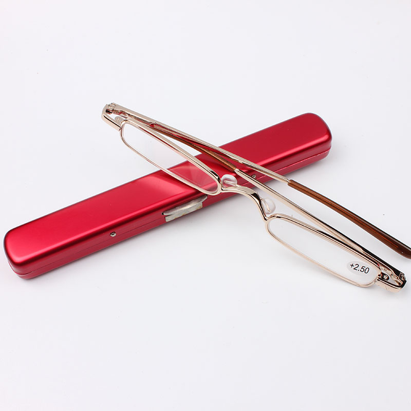 Chashma Brand Classic Design Alloy Slim Glasses Reading Pen Style Read Glasses With Case ...