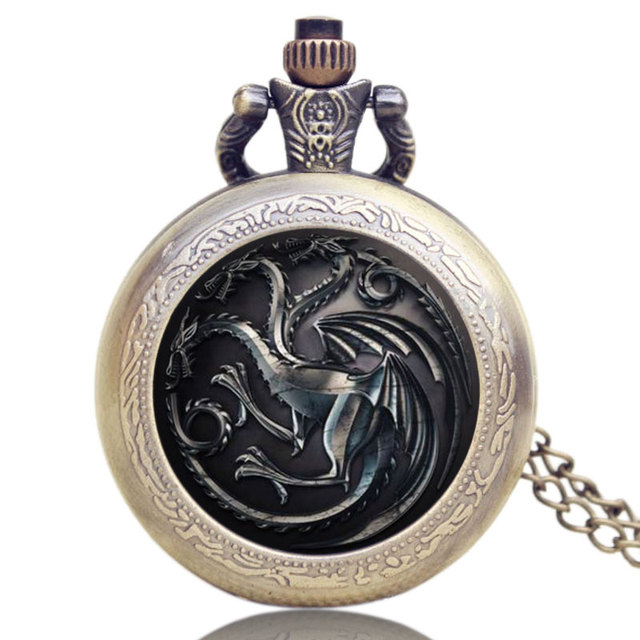 High Quality Game of Thrones Theme Pocket Watch Jewelry