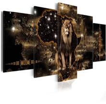 Diamond Embroiderey Lion Elephant Painting 5pcs Full Mosaic Picture Rhinestone Cross Stitch Home Decor Christmas