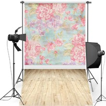 MEHOFOTO Floral Wall New Fabric Flannel Photography Background For Newborn Floor Vinyl Backdrop Children photo studio F1246