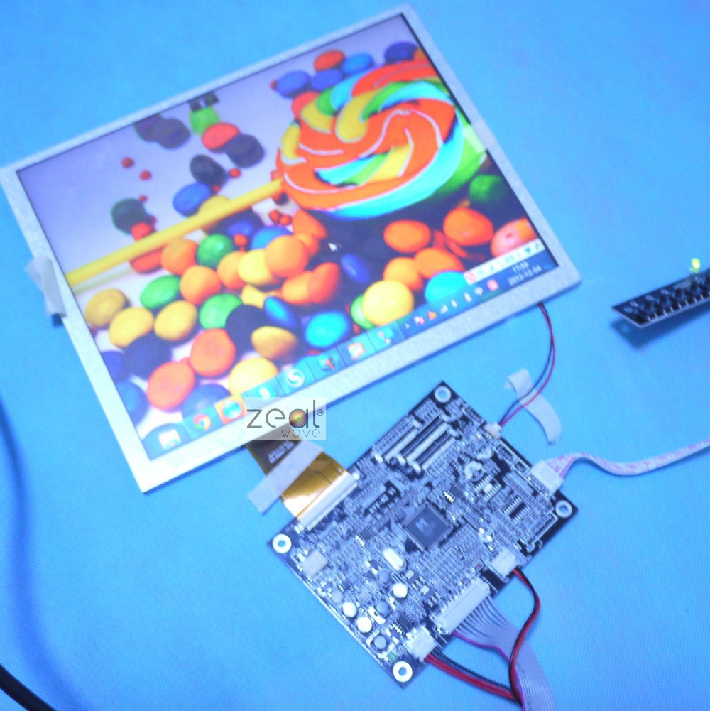 10.4inch VGA+AV Driver board+10.4inch <font><b>800</b></font>*600 A104SN03 4:3 Lcd panel +touch screen+touch screen <font><b>USB</b></font> Controller image