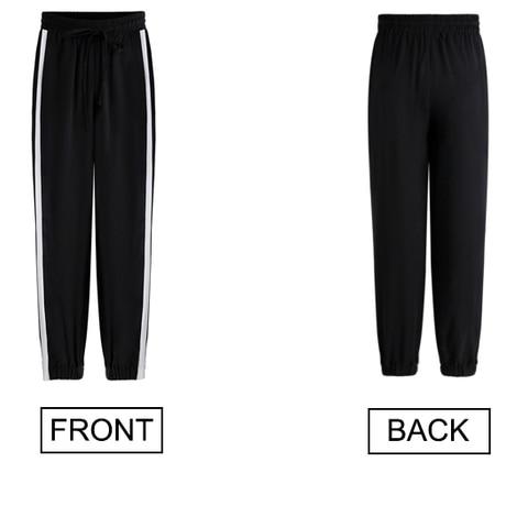 2019 Spring Sweatpants female fashion Harem Pants Loose Trousers For Women Black Striped Side Sweat Pants Female Plus Size S-3XL Multan