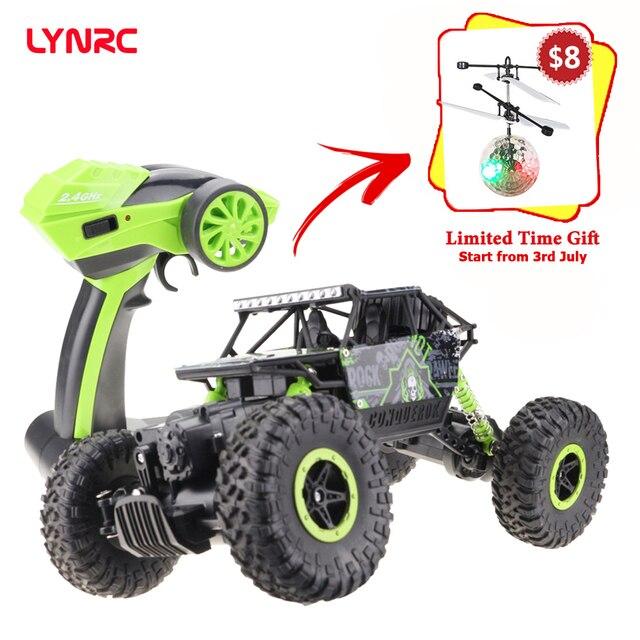 ¡Venta Final! Lycrc RC coche 4WD 2,4 GHz coche de escalada 4x4 Doble motores Pie Grande coche Control remoto modelo Off- vehículo de juguete