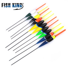 FISH KING 10Pcs/Lot 2g/3g/4g/5g Fishing Float Bobber Set Combine Dimension Shade Plastic Vertical Buoy Fishing Deal with Equipment