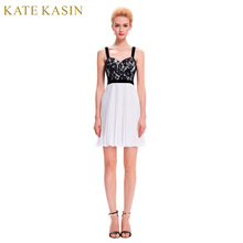 Kate Kasin Black Lace Cocktail Dresses 2017 Grey White Blue Special Occasion Homecoming Party Dress Short Cocktail Dress 0003