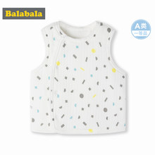 Balabala Infant Baby Fleece-Lined Vest Printed Newborn Baby Boy Baby Girl Padded Vest with Front Snap Button Closure for Winter(China)