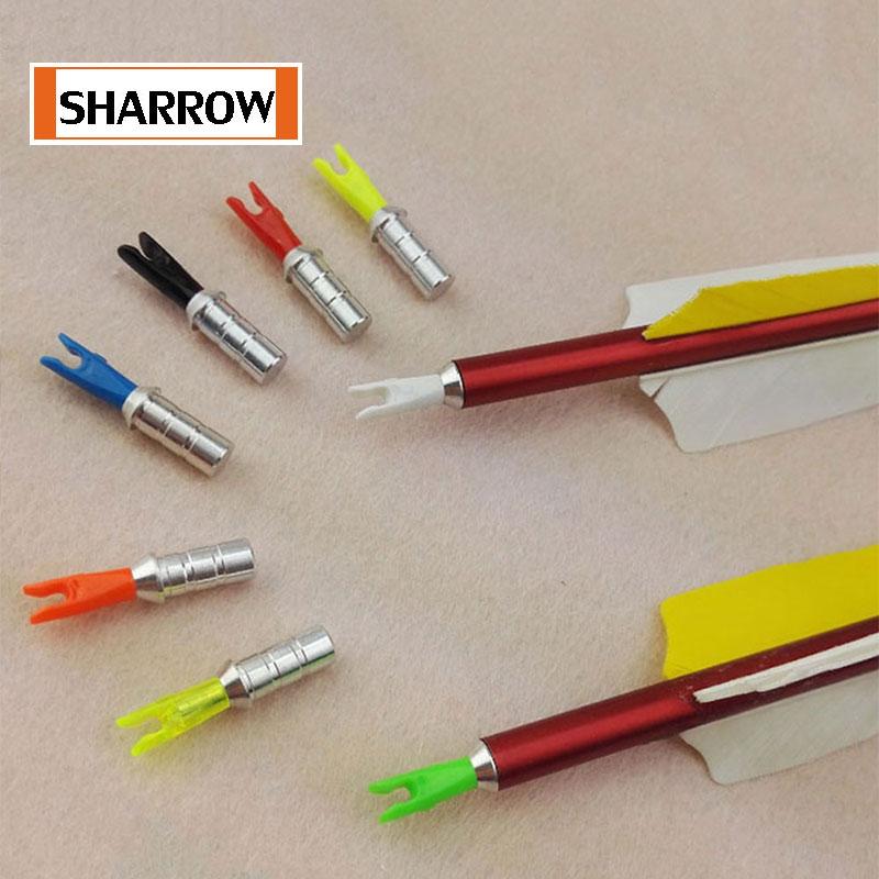 12Pcs Plastic Arrow Push in Nocks for ID 6.2mm Archery Arrow