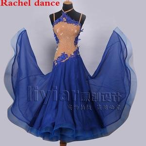 Image 5 - Professional Womens Ballroom Dance Dresses Standard Waltz Flamenco Tango Competition Dress Yellow For Salsa Competition Costume