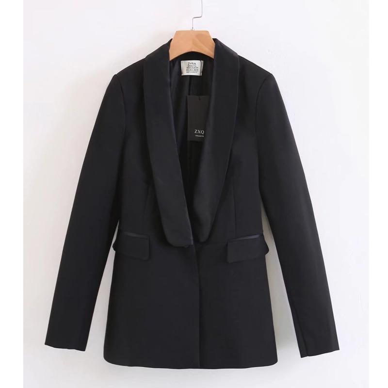 Suit Suit Female 2019 Autumn New Women's Slim Body Solid Color Black Suit Jacket Slim Trousers Two-Piece Suit