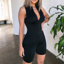 Sexy Rompers Playsuit Women Clothes 2019 Black Jumpsuit Summer Rave