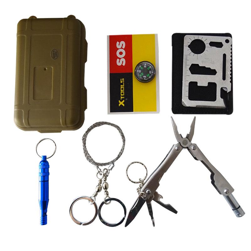 EDC Multitool Keychain Pocket Emergency Camping Hiking Travel Tools